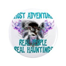 """Ghost Adventures Whitewings T-Shirt 3.5"""" Button"""