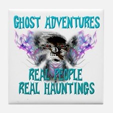 Ghost Adventures Whitewings T-Shirt Tile Coaster