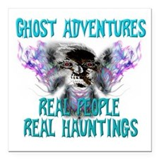 "Ghost Adventures Whitewi Square Car Magnet 3"" x 3"""