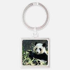 panda2 - Copy Square Keychain