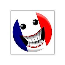 "French smile Square Sticker 3"" x 3"""
