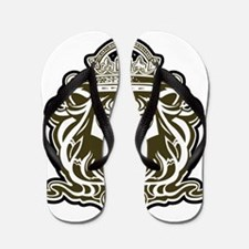 selectas choice lion head Flip Flops