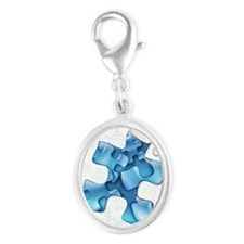 autism-xmas-card1 Silver Oval Charm
