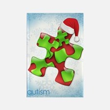 autism-xmas-card1rg Rectangle Magnet
