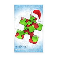 autism-xmas-card1rg Rectangle Car Magnet