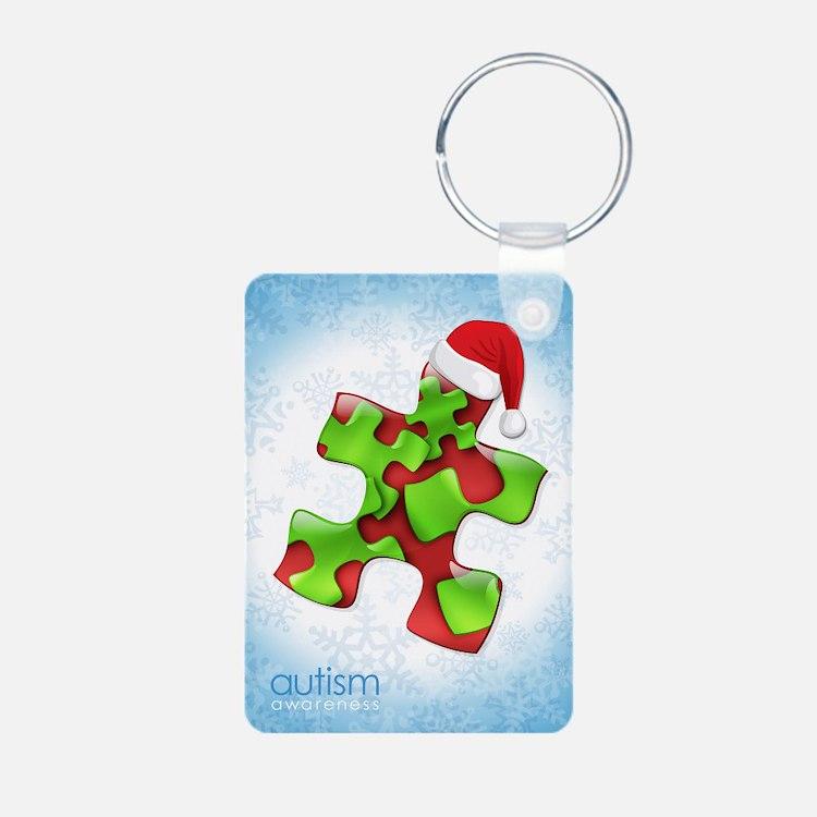 autism-xmas-card1rg Keychains