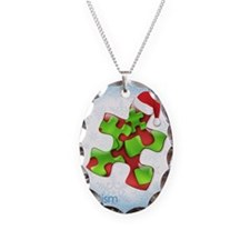 autism-xmas-card1rg Necklace Oval Charm