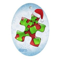 autism-xmas-card1rg Oval Ornament