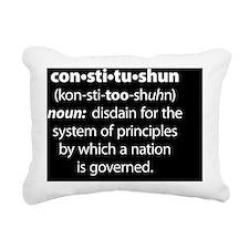 Constitushun 6 White Squ Rectangular Canvas Pillow