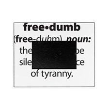 Freedumb 5 Black Pillow Picture Frame