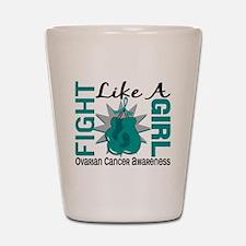 Fight Like A Girl Ovarian Cancer 8.3 Shot Glass