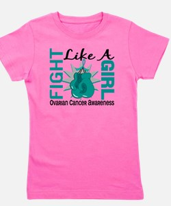 Fight Like A Girl Ovarian Cancer 8.3 Girl's Tee