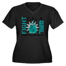 Fight Like A Women's Plus Size Dark V-Neck T-Shirt
