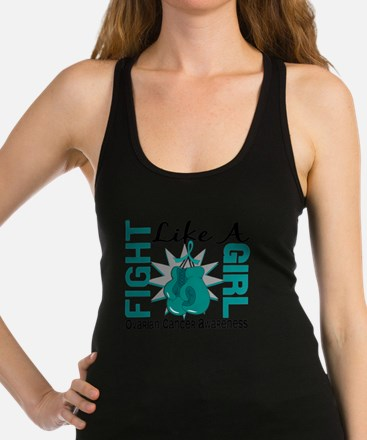 Fight Like A Girl Ovarian Cance Racerback Tank Top
