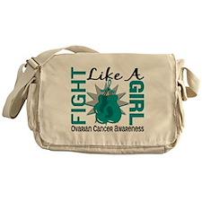 Fight Like A Girl Ovarian Cancer 8.3 Messenger Bag