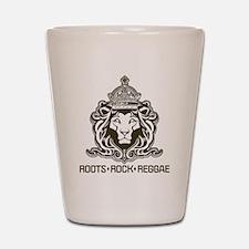 roots rock reggae qr2 Shot Glass