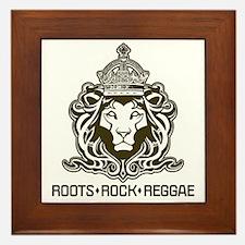 roots rock reggae qr2 Framed Tile