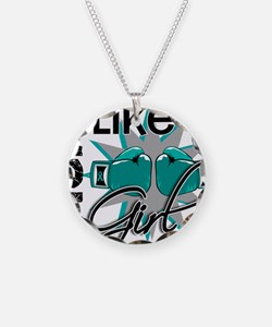 Fight Like A Girl Ovarian Ca Necklace