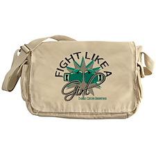 Fight Like A Girl Ovarian Cancer 12. Messenger Bag