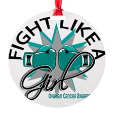 Fight Like A Girl Ovarian Cancer 12 Ornament