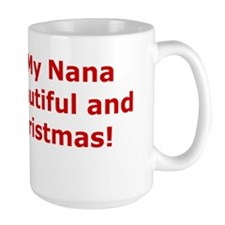 Nana Merry Christmas Greeting Card Mug