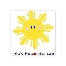 "lovelola Square Sticker 3"" x 3"""