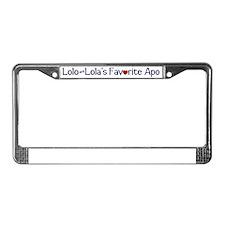 lololafav License Plate Frame