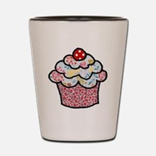 redfloralcupcake Shot Glass
