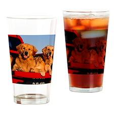 Golden PU calendar Drinking Glass