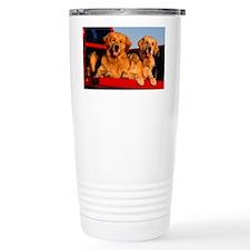 Golden PU calendar Travel Mug