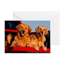 Golden PU mousepad Greeting Card