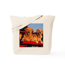 Golden PU mousepad Tote Bag