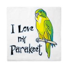 I Love my Parakeet Queen Duvet