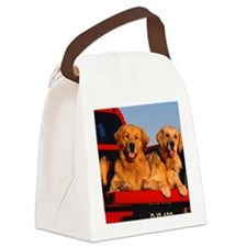 Golden PU note Canvas Lunch Bag