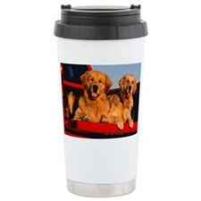 Golden PU post Travel Mug