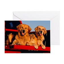 Golden PU post Greeting Card