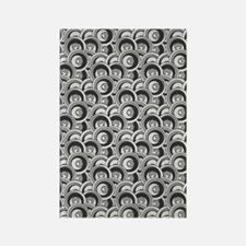 Black and Gray Circles Rectangle Magnet