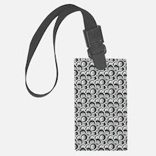 Black and Gray Circles Luggage Tag