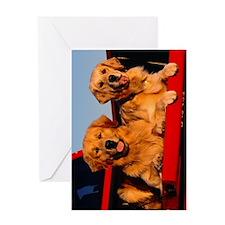 Golden PU journal Greeting Card