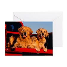 Golden PU L print Greeting Card