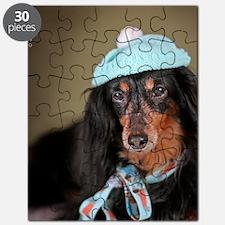 Hallie Dachshund Designs Knitted Hat 2 Puzzle