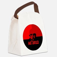 aleister-crowley-round-xparent Canvas Lunch Bag