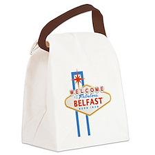 Belfast - Las Vegas Sign Canvas Lunch Bag