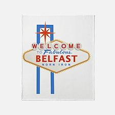 Belfast - Las Vegas Sign Throw Blanket