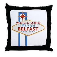 Belfast - Las Vegas Sign Throw Pillow