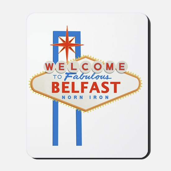 Belfast - Las Vegas Sign Mousepad