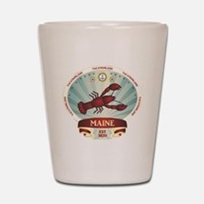 Maine Lobster Crest Shot Glass