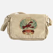 Maine Lobster Crest Messenger Bag