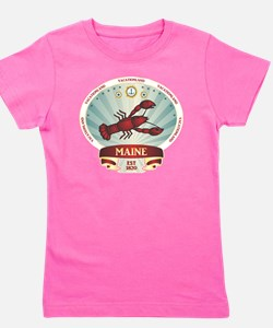 Maine Lobster Crest Girl's Tee