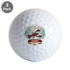 Maine Lobster Crest Golf Ball